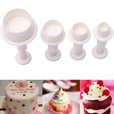 4x Mini Round Circle Cookie Cake Cutter Mold Biscuit Fondant Sugar Craft Decor&
