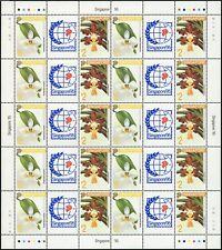 Singapur Singapore 1993 Orchideen Briefmarkenausstellungen 695-696 Bogen MNH