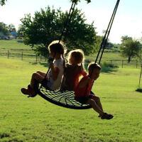 "48"" Round DURABLE Tree Web Swing Net Platform PE Rope Kids Play Set Patio Yard"