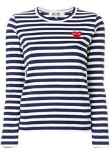 Comme Des Garcons Navy Stripe Shirt