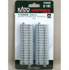 Kato 2-141 Rail droit / Straight Track Concrete Tie 123mm 4pcs - HO