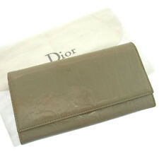 Dior Wallet Purse Long Wallet Trotter Grey Woman Authentic Used F629