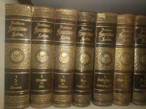 Brockhaus Konversationslexikon Lexikon 14.Auflage 1892 in 17 Bände komplett gut
