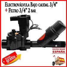 "Electrovalvula de riego por goteo Rain Bird 3/4"" 24V LFV + Filtro de malla 3/4"""