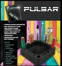 PULSAR® TAP TRAY - Black PREMIUM SILICONE ASHTRAY for your tobacco pipe & tools