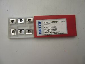 10 Stück Hartmetallwendeplatten, FETTE , ADHX 12T306 ER, CAT. 1196-84, LW 240