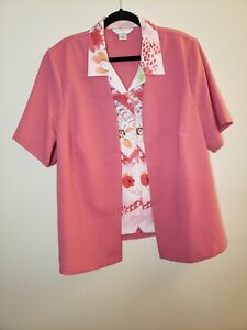 Allison Daley Pant Outfit 20W Pink Color