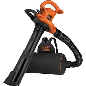 New Black & Decker BEBL7000 Corded Electric Leaf Blower, Vacuum, Mulcher 3-IN-1