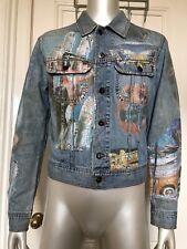 D&G Dolce & Gabbana Denim Jacket With Vintage Print Very Good Condition Medium