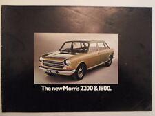 MORRIS 1800 & 2200 orig 1972 UK Mkt Sales Brochure - BL 2904