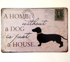 Shabby Chic Dogs & Puppies Metal Decorative Plaques & Signs
