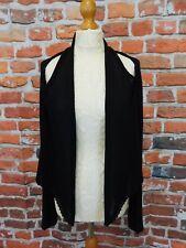 Crea Concept black knit edge to edge cardigan size M lagenlook drape goth arty