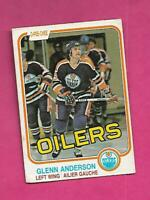 1981-82 OPC # 108 OILERS GLENN ANDERSON  ROOKIE GOOD CARD (INV# D2029)