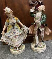New listing Pair Of Large Antique German Porcelain Fugures Of A Man And Woman