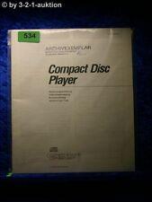 Sony Bedienungsanleitung CDP 670 / 470 / 270 / M47 / M27 CD Player (#0534)