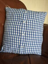 Blue and white stripe, checked, cushion cover, cotton print cussion cover
