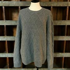 Brooks Brothers Cableknit Grey Sweater // MTW Clothing