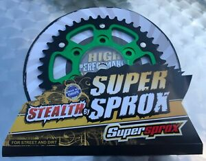 Supersprox Stealth Sprocket Kawasaki Z 1000 SX, Z1000SX, Green, Rst 1489-41, New