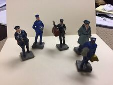 Vintage Toy Plastic MEN- POLICE OFFICE BUS DRIVER - DOOR MAN- OTHERS MADE JAPAN