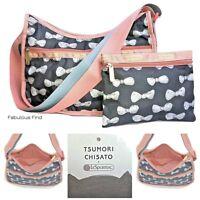 LeSportsac Tsumori Chisato Blue Ribbon Classic Hobo Crossbody Bag NWT Free Ship