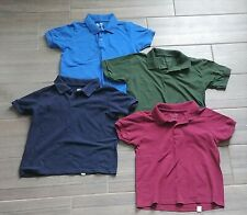 Set of *4* Gildan Dry Blend Boys Short Sleeve Polo Shirts Size M 10-12