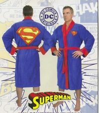 Superman Costume Adult Fleece Dressing Gown Lounging Robe, NEW UNWORN