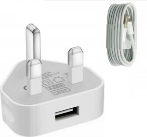 UK CE TESTED Charger & USB Cable compatible with Phone XS XE 8 7 6 5 Plus 11pro