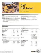 Equipment Brochure - Caterpillar - 216B Series 2 Skid Steer Loader 2007 (E1745)