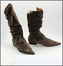 TONY BIANCO WOMEN'S LOW HEELED MID-CALF ZIP-UP SUEDE FASHION BOOTS SIZE 5