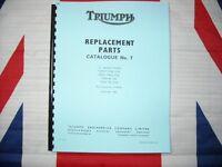 Parts Manual 1966 Fits Triumph T100 T90 Tiger Trophy 3TA  21  5TA Speed Twin