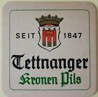 alter Bierdeckel Brauerei TETTNANGER, Kronen Pils 🍺 T-8
