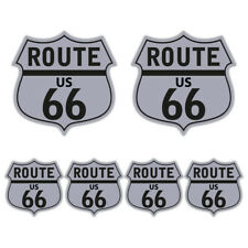 Route 66 Sticker set retro car motorcycle cafe racer hotrod Guitar Decal S