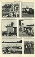 Philippine-American War photographs troops Harper's Weekly 1900 great old print