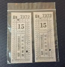 2 Vintage Singapore Green Bus Co., Ltd. Tickets