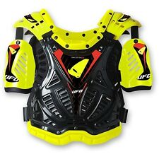UFO PETTORINA SHIELD ONE CROSS  GIALLO FLUO  OFF ROAD