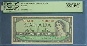 Canada 1954 - $ 1 - BC-37bA  - Beattie-Raminsky - Replacement