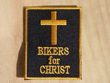ECUSSON PATCH THERMOCOLLANT aufnaher toppa BIKERS FOR CHRIST harley rock métal