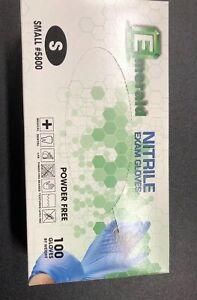 Nitrile Exam Gloves, Powder-Free, Latex Free Blue SMALL, 100/Box Emeral Glove