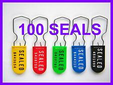 *NEW CASE OF 1000*   Brooks SPLITLOK Plastic Padlock Seals *PURPLE* C1