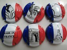 Série de 6  capsules de champagne Générique Les patriotes ref 944 à 944e