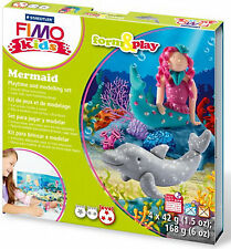 New FIMO Kids Form & Play Set Mermaid Modelling Jewellery Craft Art Fun