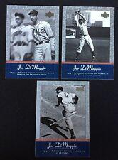 3 Joe DiMaggio 2001 UD Pinstripe Exclusives #JD3, #JD13, #JD22  New York Yankees