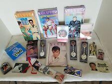 Vintage Lot Elvis Presley Memphis VHS Cards Magnets Spoons Cassettes Rare I6F
