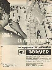 Publicité 1964  BOUYER microphone haut-parleur Planiflex