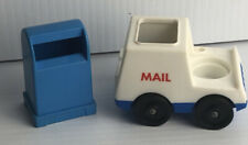 Vintage Fisher Price Little People Post Mail Truck and Mail Box
