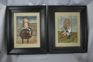 Pair of Lithographs by Listed Artist Graciela Rodo Boulanger