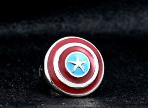 Captain America Shield Unisex Solid Stainless Steel/Enamel Ring For Cosplay
