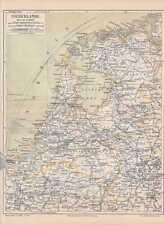 Niederlande Nederland Holland LANDKARTE von 1889 Brabant Friesland Drenthe