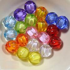 Lot 10 Perle Acrylique 12mm Citrouille Halloween potiron Couleur Mixte