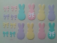 8 PEEPS Stitched Die Cuts Embellishments With 16 Bows Easter Card Making Crafts